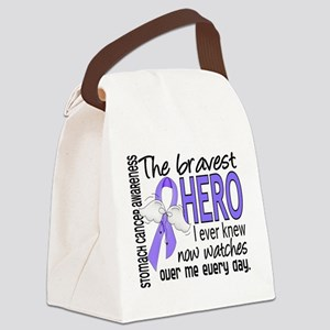 Bravest Hero I Knew Stomach Cancer Canvas Lunch Ba
