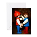 dancing play mobile Greeting Cards