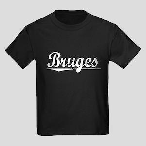 Bruges, Vintage Kids Dark T-Shirt