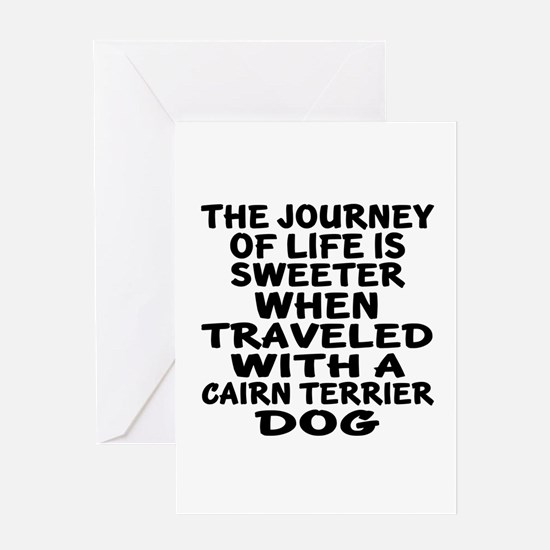 Traveled With Cairn Terrier Dog Desi Greeting Card