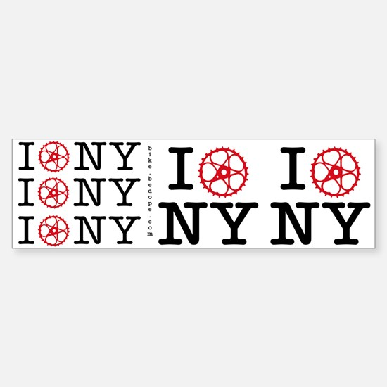 I Bike NY Bumper Bumper Sticker