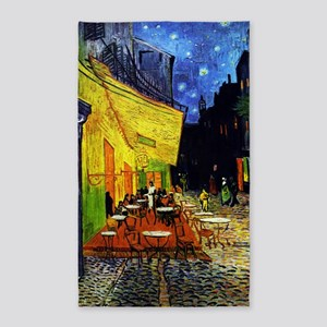 Van Gogh Cafe Terrace At Night 3'x5' Area Rug