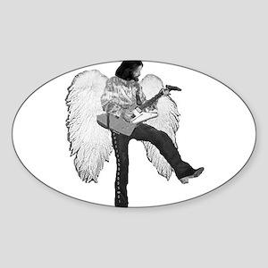 Jesus Playin Lead Oval Sticker