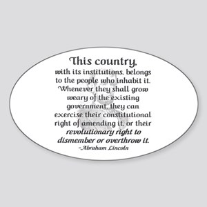 """Revolutionary Right"" Oval Sticker"