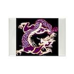 Violet Dragon Rectangle Magnet