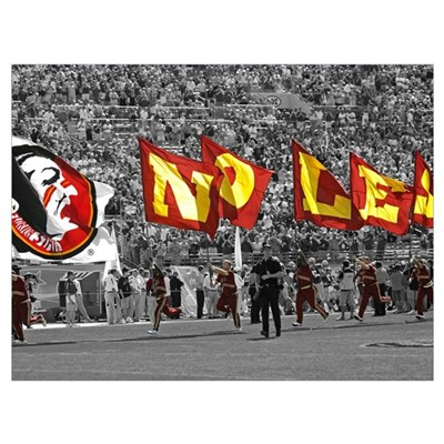Seminole Flags in Doak Cambell Stadium Canvas Art