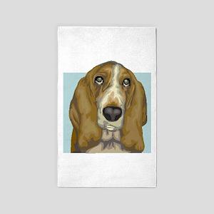 basset hound 3'x5' Area Rug