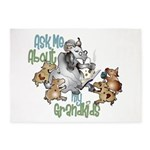 GOAT Ask Me About my Grandkids 5'x7'Area Rug