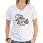 GOAT Ask Me About my Grandkids Women's V-Neck T-Sh
