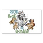 GOAT Ask Me About my Grandkids Sticker (Rectangle)