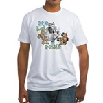 GOAT Ask Me About my Grandkids Fitted T-Shirt