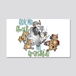 GOAT Ask Me About my Grandkids 20x12 Wall Decal