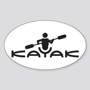Kayak Logo Sticker (Oval)