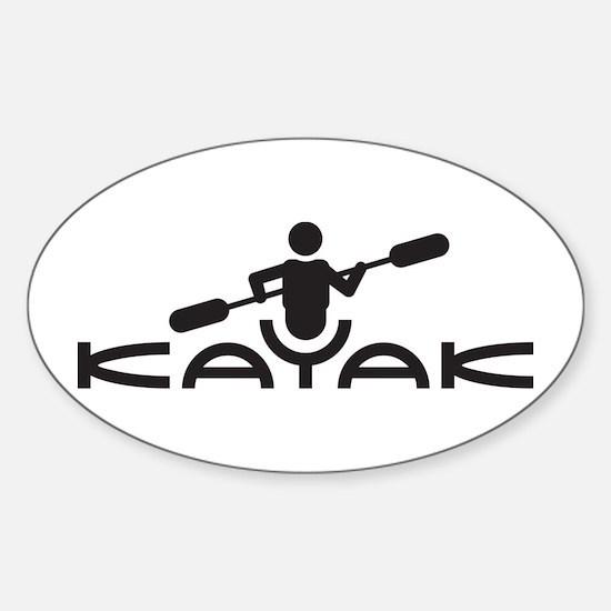 Kayak Logo Sticker (Oval)