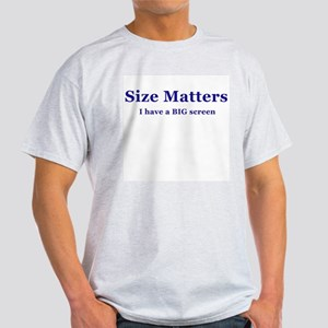 Size Matters Home Theater Ash-Gray T-shirt