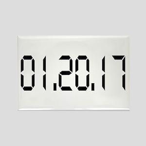 01.20.17 White Rectangle Magnet
