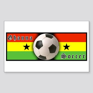 Ghana Soccer Rectangle Sticker