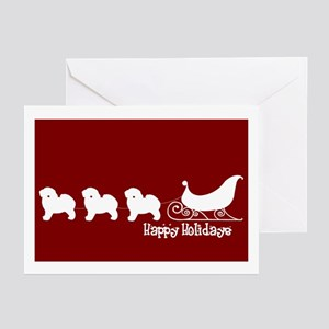 "Bichon Frise ""Sleigh"" Greeting Card (Pk of 10)"