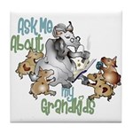GOAT Ask Me About my Grandkids Tile Coaster