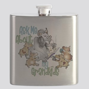 GOAT Ask Me About my Grandkids Flask