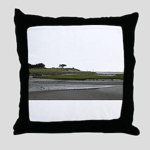 Morris Island Beach, Chatham MA Throw Pillow