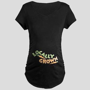 Locally Grown Maternity Dark T-Shirt