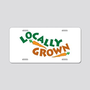 Locally Grown Aluminum License Plate