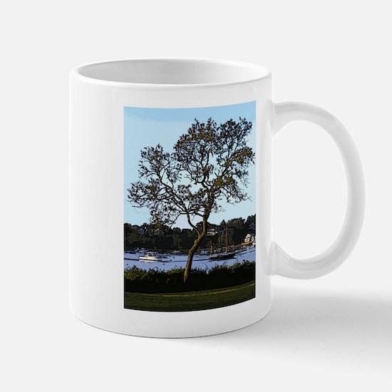 Tree and boats, Mill Pond, Chatham Mug