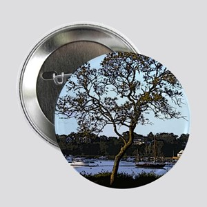 """Tree and boats, Mill Pond, Chatham 2.25"""" Button"""