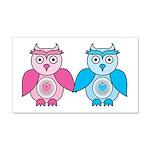 Kawaii Valentines Girl and Boy Owls 20x12 Wall Dec