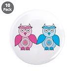 """Kawaii Valentines Girl and Boy Owls 3.5"""" Butt"""