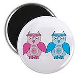 Kawaii Valentines Girl and Boy Owls Magnet