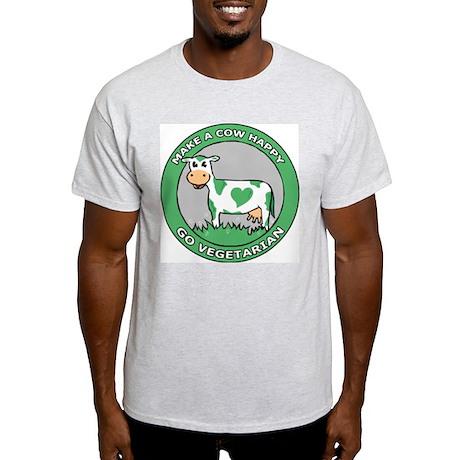 Go Vegetarian Ash Grey T-Shirt