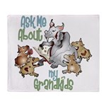 GOAT Ask Me About my Grandkids Throw Blanket