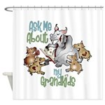 Goat Ask Me About My Grandkids Shower Curtain