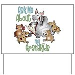 GOAT Ask Me About my Grandkids Yard Sign