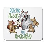 GOAT Ask Me About my Grandkids Mousepad