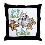 GOAT Ask Me About my Grandkids Throw Pillow