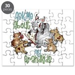 GOAT Ask Me About my Grandkids Puzzle