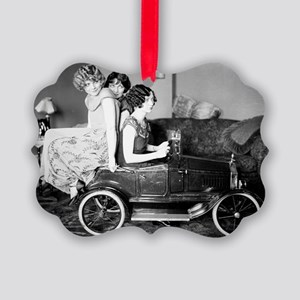 flappers in flivver Picture Ornament