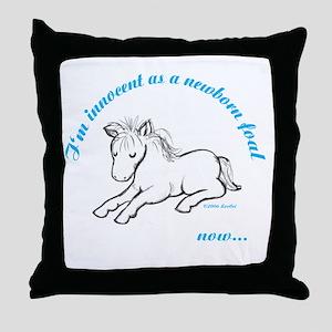 Innocent Foal Throw Pillow