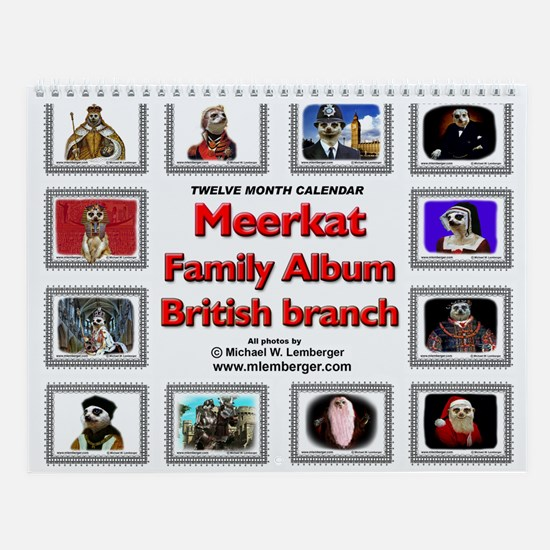 Meerkat Family Album Wall Calendar