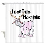 Funny Morning Goat Shower Curtain