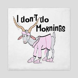 Funny Morning Goat Queen Duvet