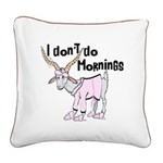 Funny Morning Goat Square Canvas Pillow