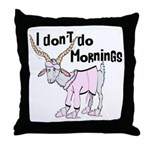 Funny Morning Goat Throw Pillow