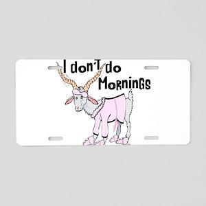 Funny Morning Goat Aluminum License Plate