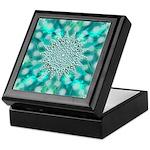 Blue Christmas Snowflake Fractal Keepsake Box