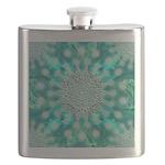Blue Christmas Snowflake Fractal Flask