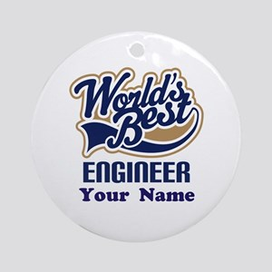 Personalized Engineer Ornament (Round)